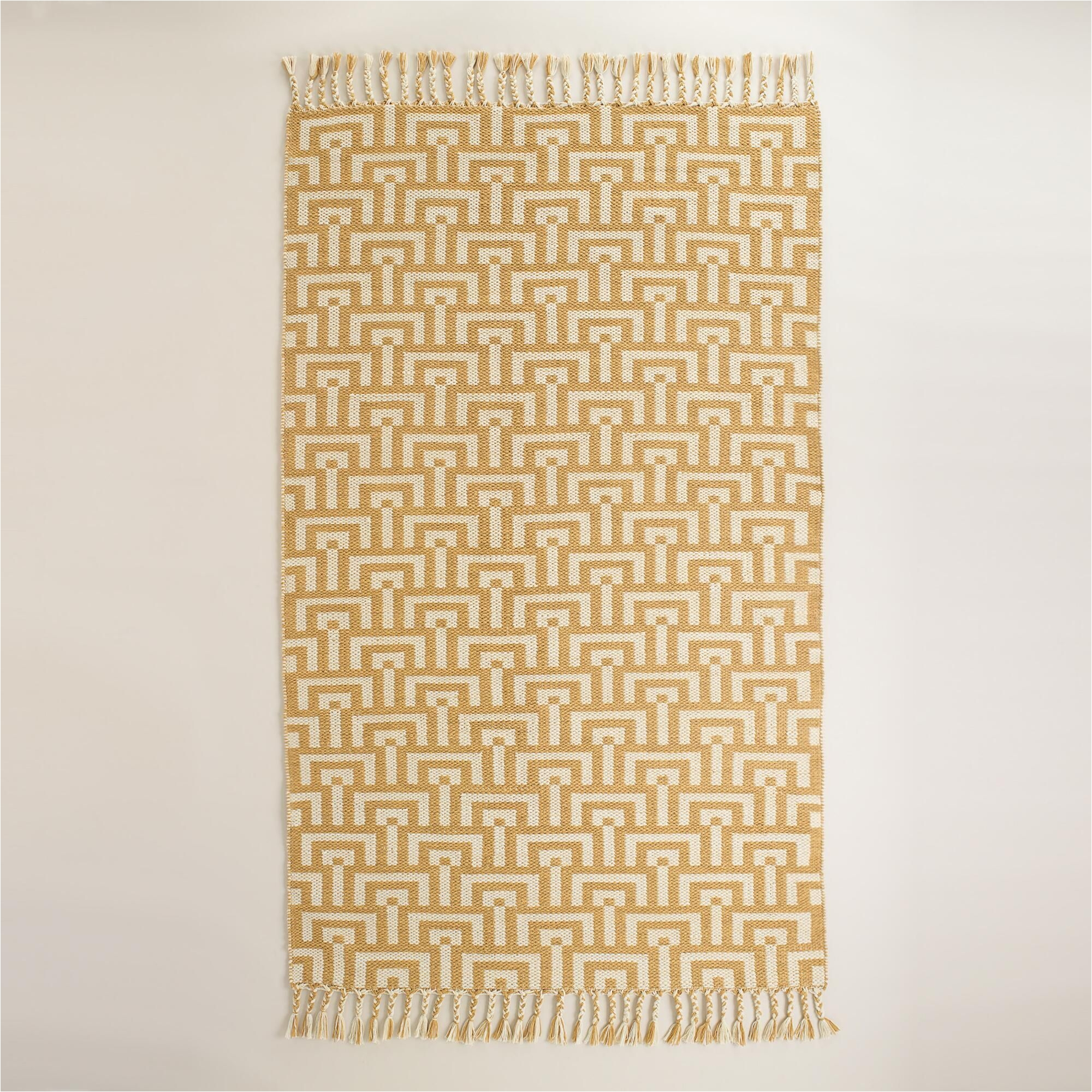 yellow and ivory flatweave flynn indoor outdoor rug