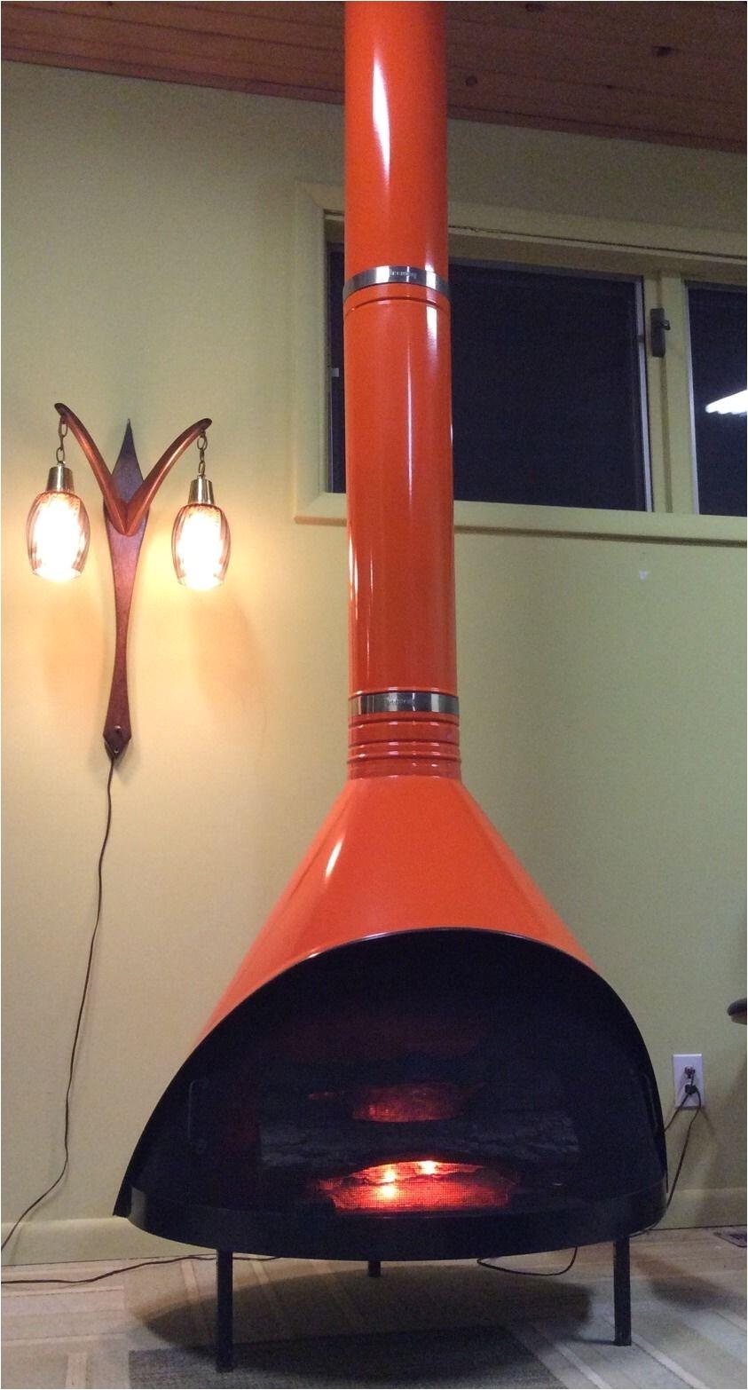 preway orange electric fireplace