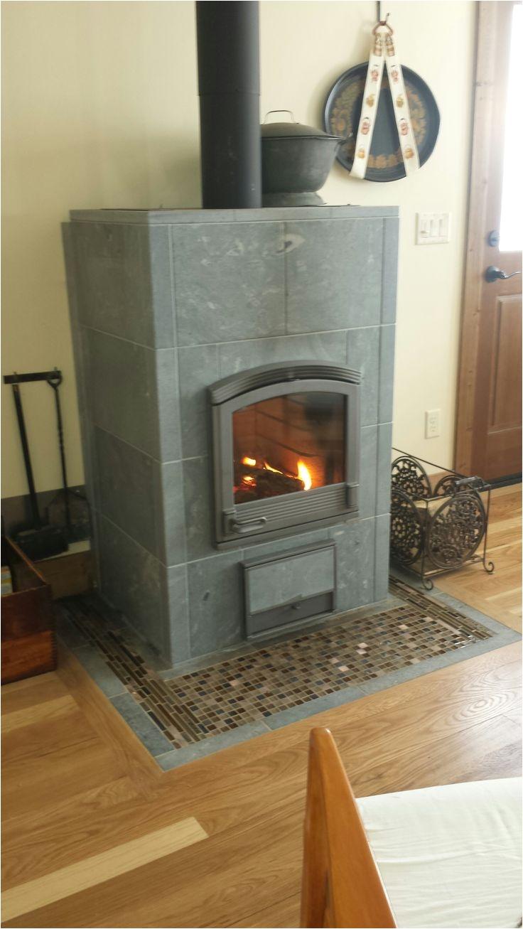 tulikivi harmaja masonry heater in bozeman mt kitchen