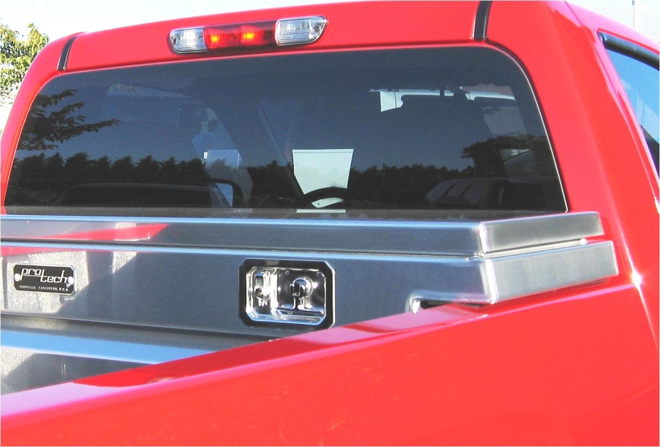 protech aluminium cross body box low pro single diamond plate