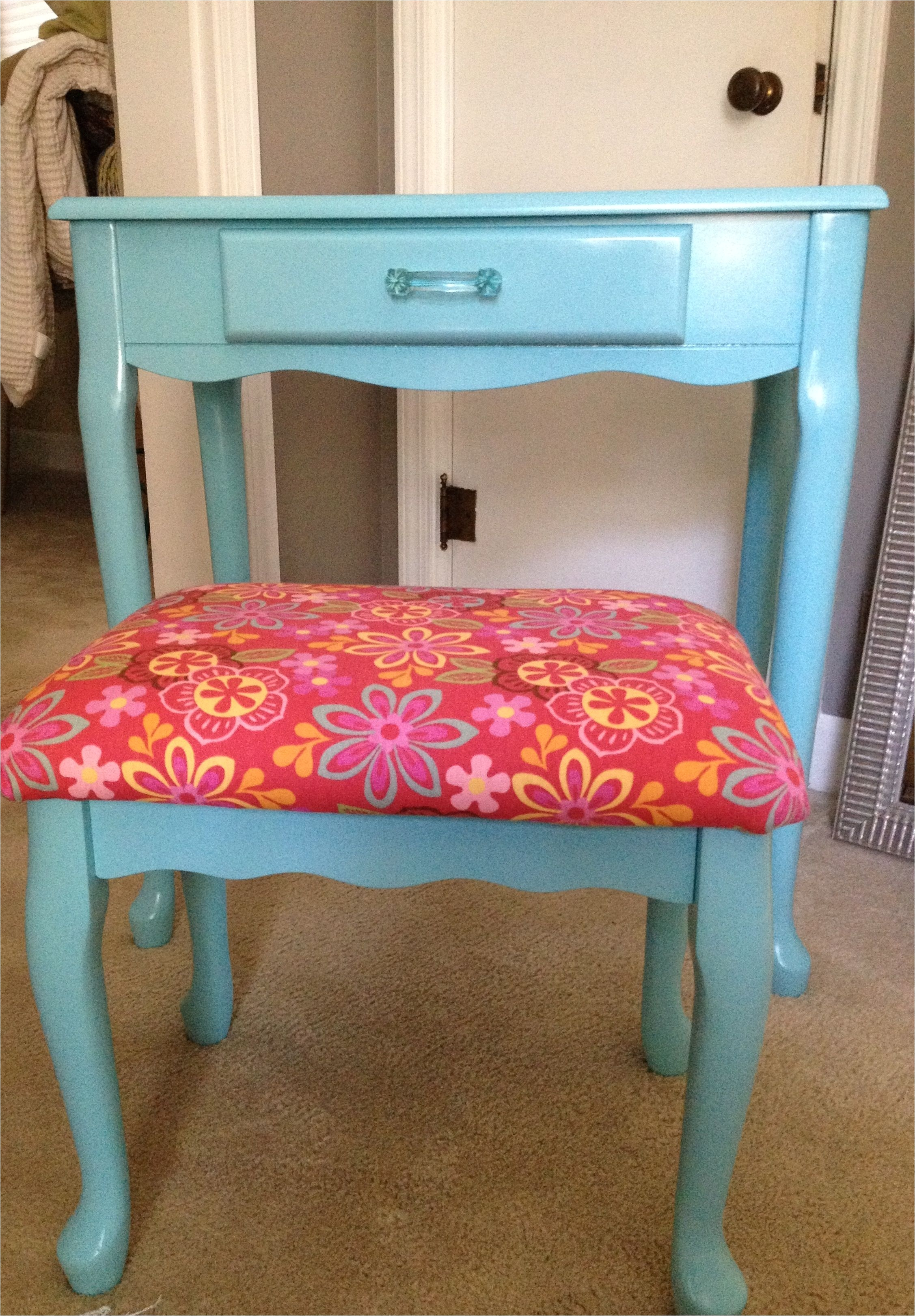 Purple Makeup Vanity Chair My Diy Little Girl S Vanity