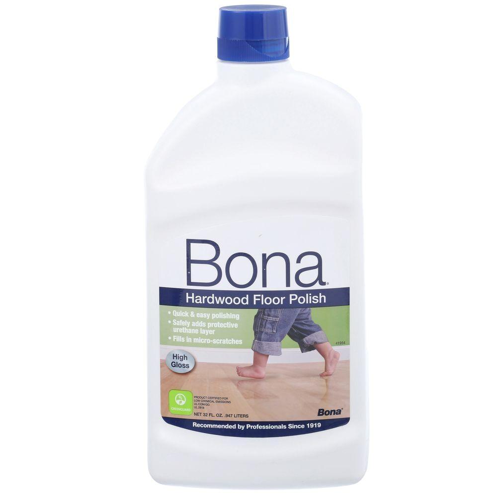 bona 32 oz high gloss hardwood floor polish wp510051002 the home depot
