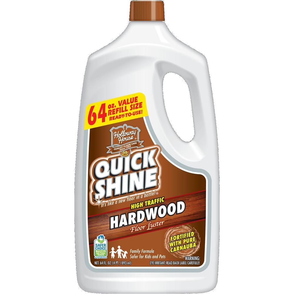 Quick Shine High Traffic Hardwood Floor Luster 64 Oz Quick Shine 64 Oz Hardwood Floor Luster 51560 the Home Depot