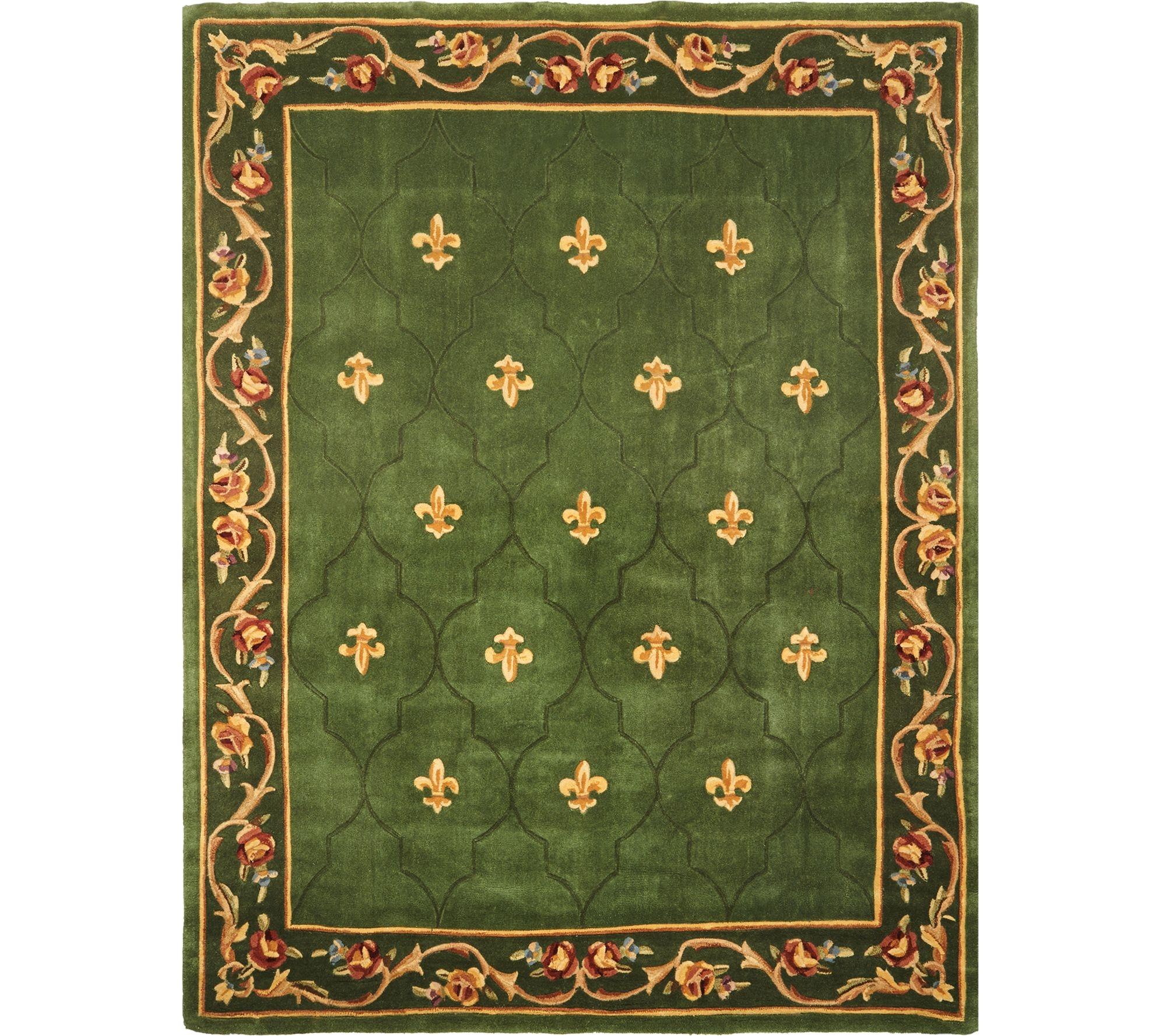 royal palace special edition 8 x10 6 fleur de lis wool rug page 1 qvc com