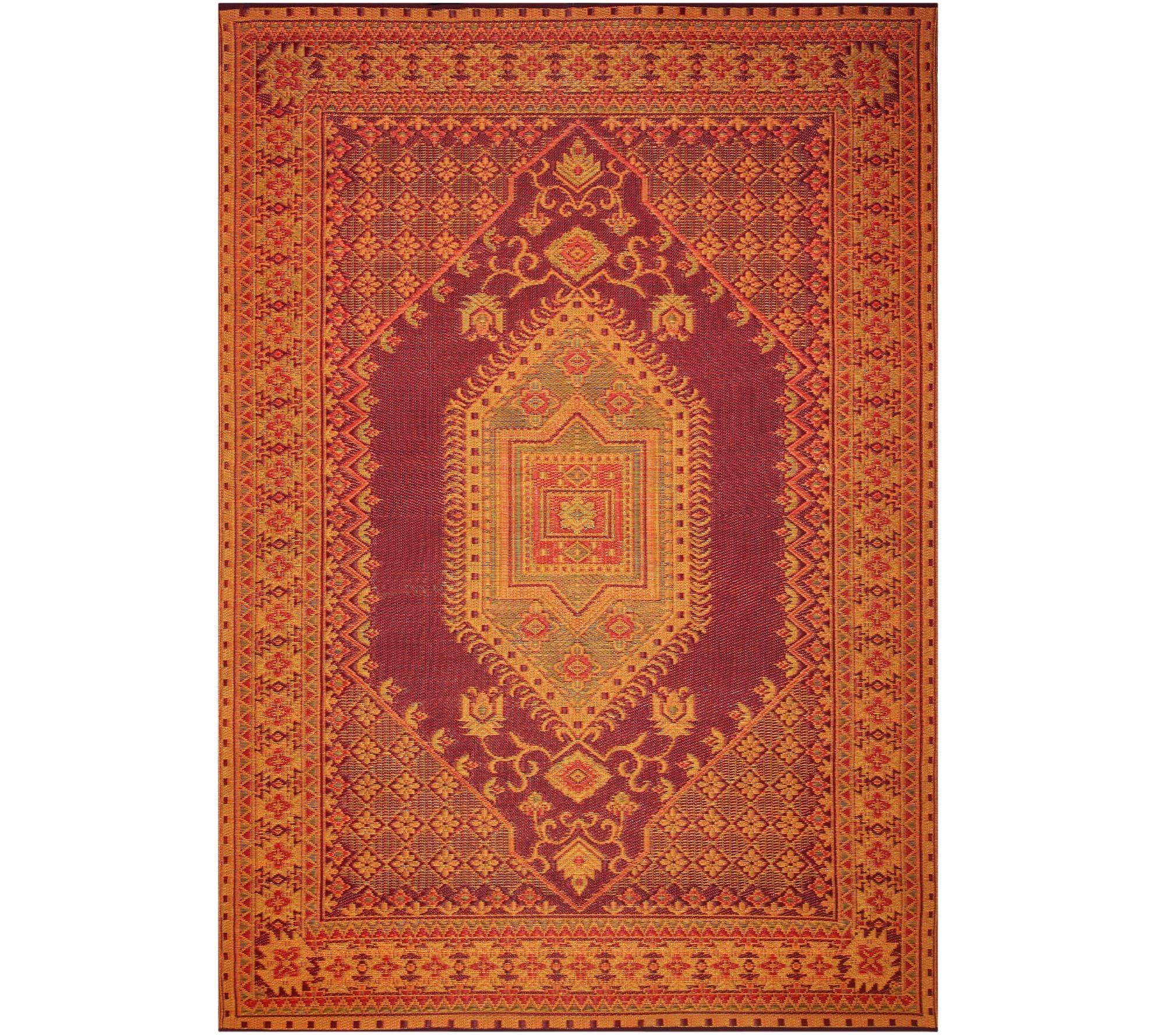 mad mats 6 x 9 turkish indoor outdoor reversible floor mat page 1 qvc com