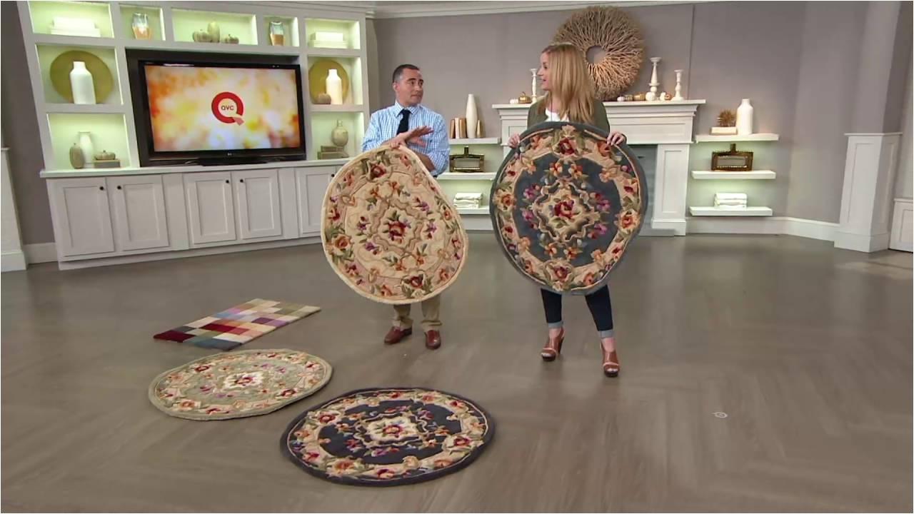 royal palace 3 x 3 round heritagemedalli handmade wool rug on qvc