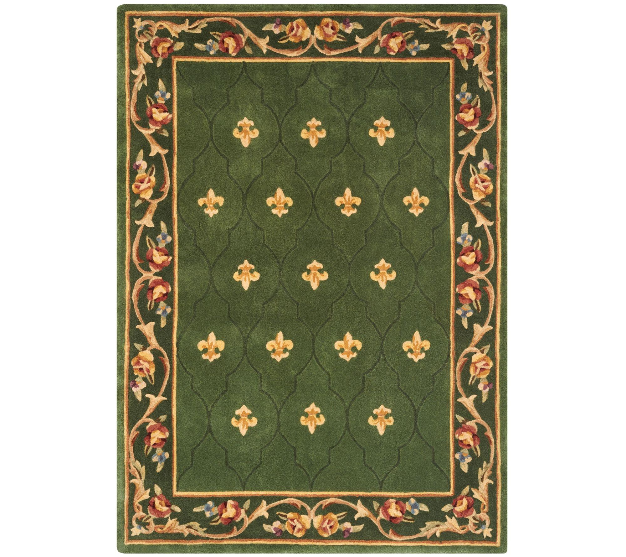 royal palace special edition 5 x7 fleur de lis wool rug page 1 qvc com