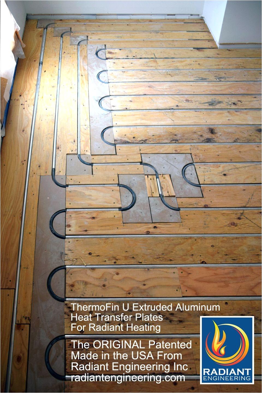 Radiant Floor Heat Transfer Panels thermofin U Extruded Aluminum Heat Transfer Plates are the original