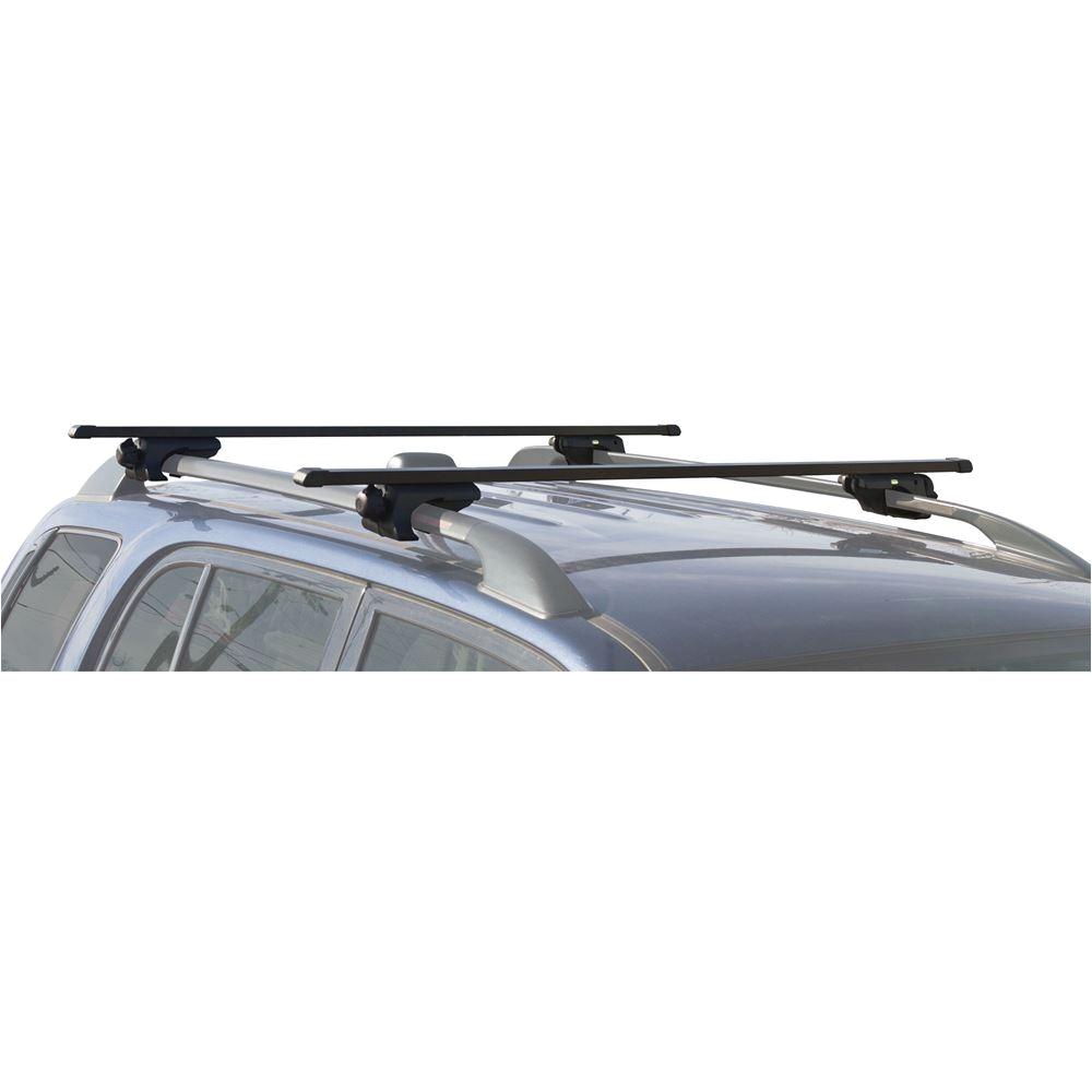 Rage Powersports Universal Roof Rack Apex Carbon Steel Deluxe Universal Side Rail Mounted Roof Crossbars