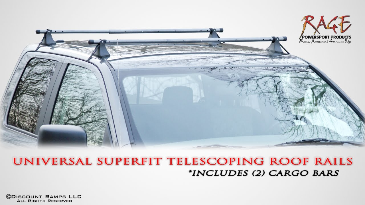 universal fit telescoping roof rails