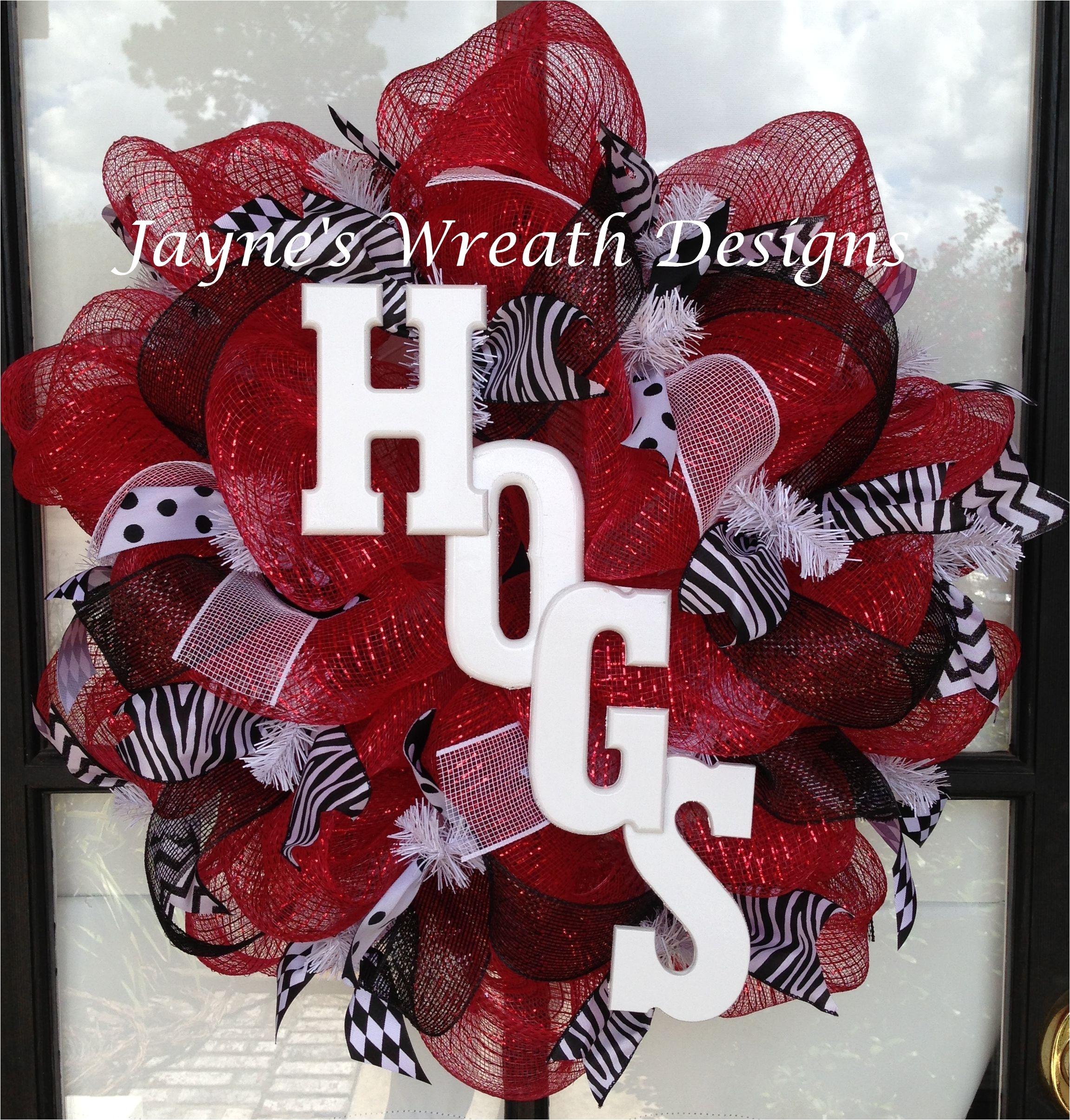 arkansas razorbacks wreaths hogs jayne s wreath designs on fb