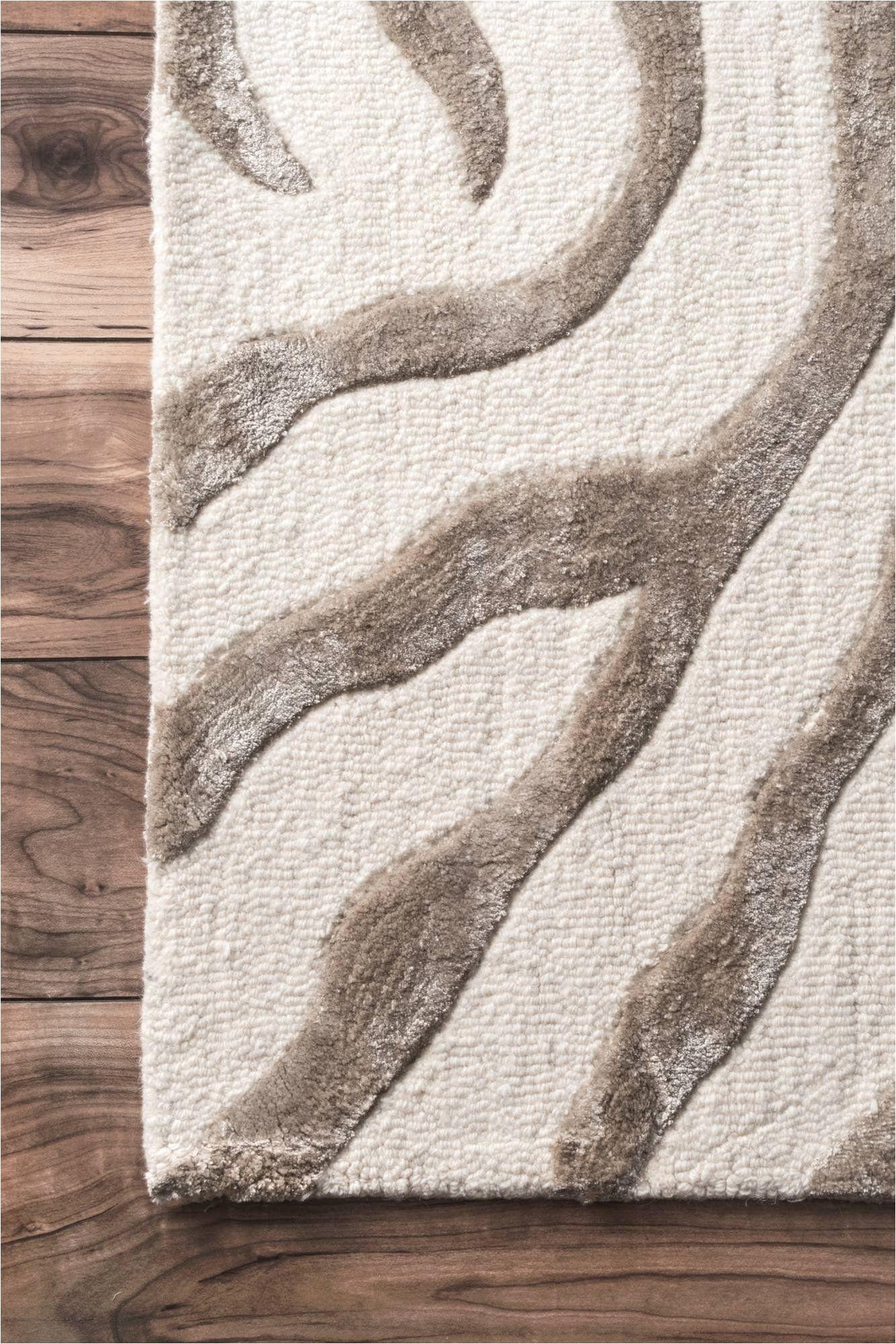 nuloom grey hand tufted plush zebra area rug 5 x 8 read more