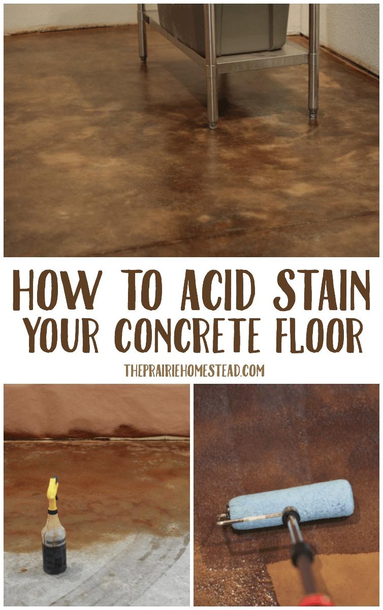 how to acid stain concrete floors pinterest acid stain concrete floor and concrete