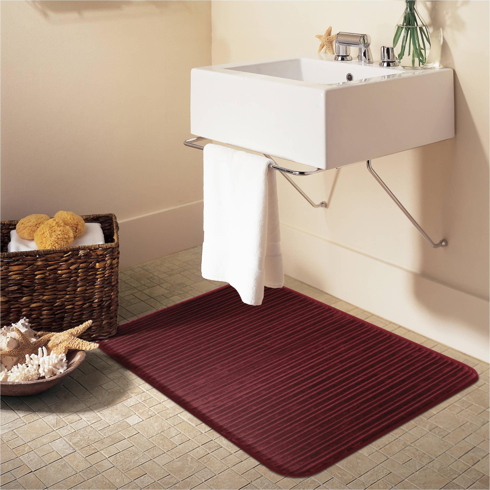mainstays ozark trail memory foam bath rug walmart com