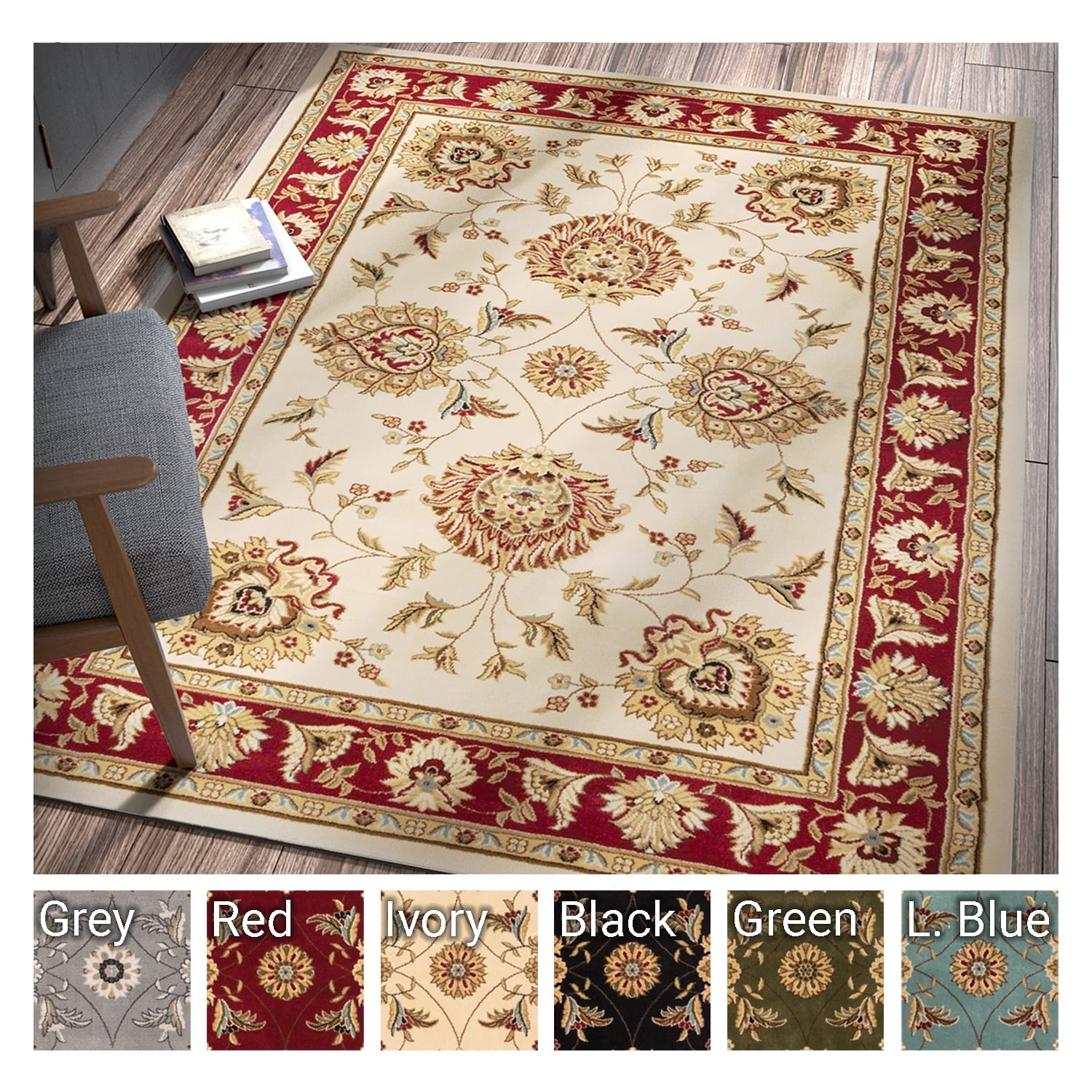shop well woven agra traditional ushak oriental area rug 7 10 x 10 6 free shipping today overstock com 15384582