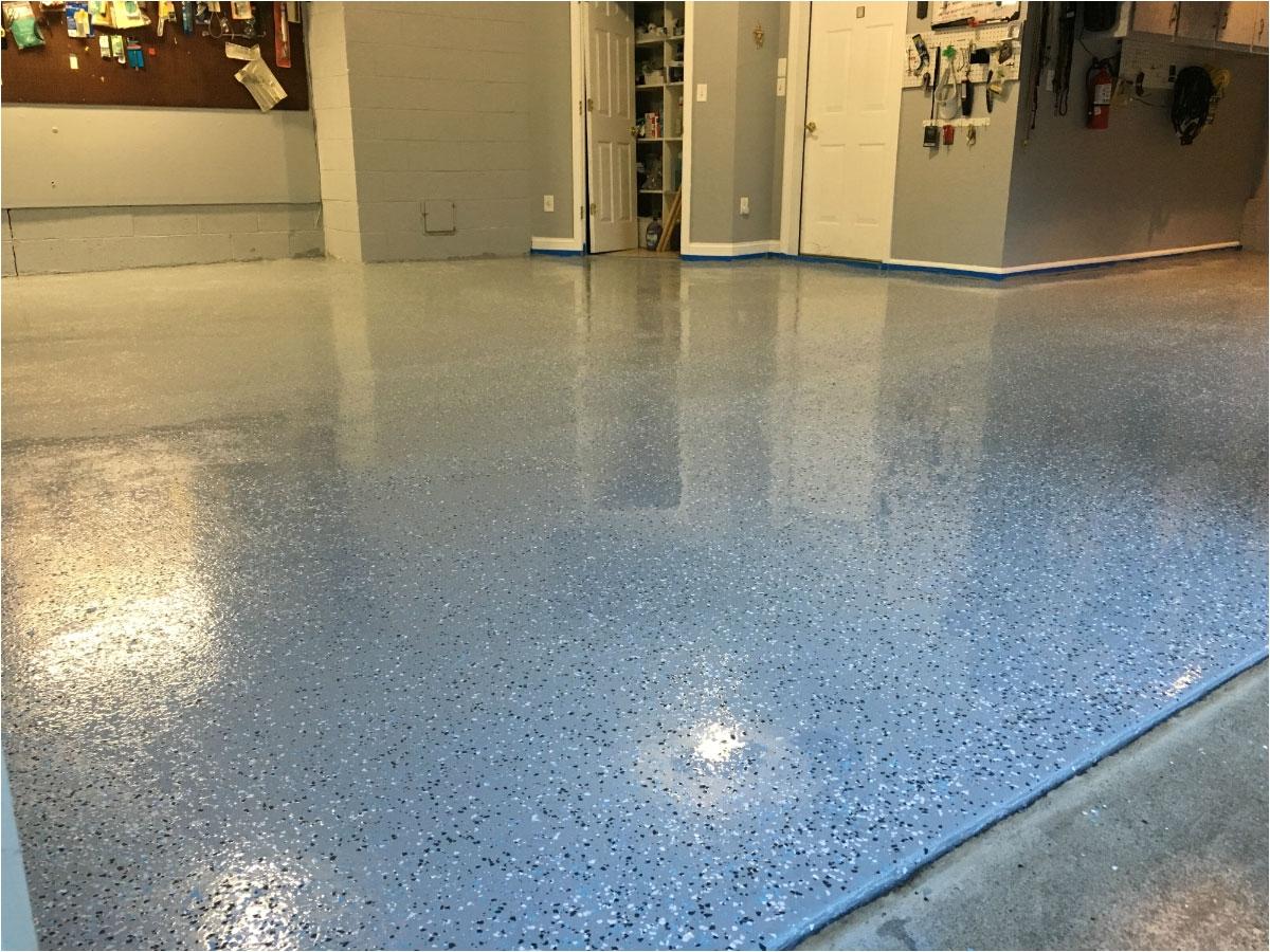 garage floor after armor chip gray floor epoxy