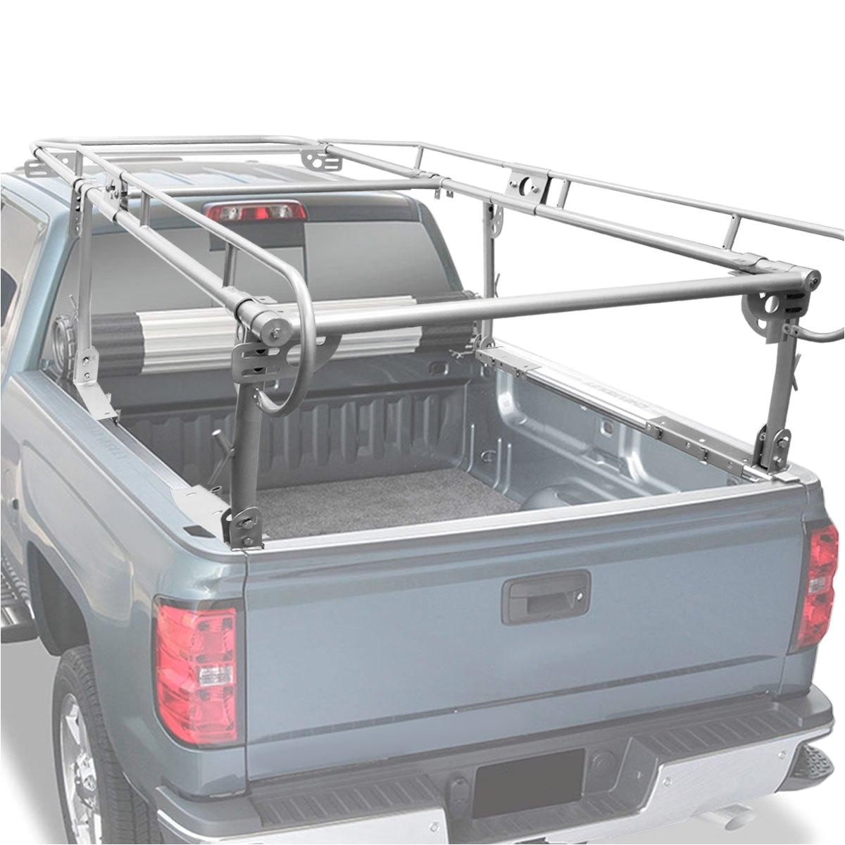 universal adjustable 132 x57 steel pickup truck ladder rack