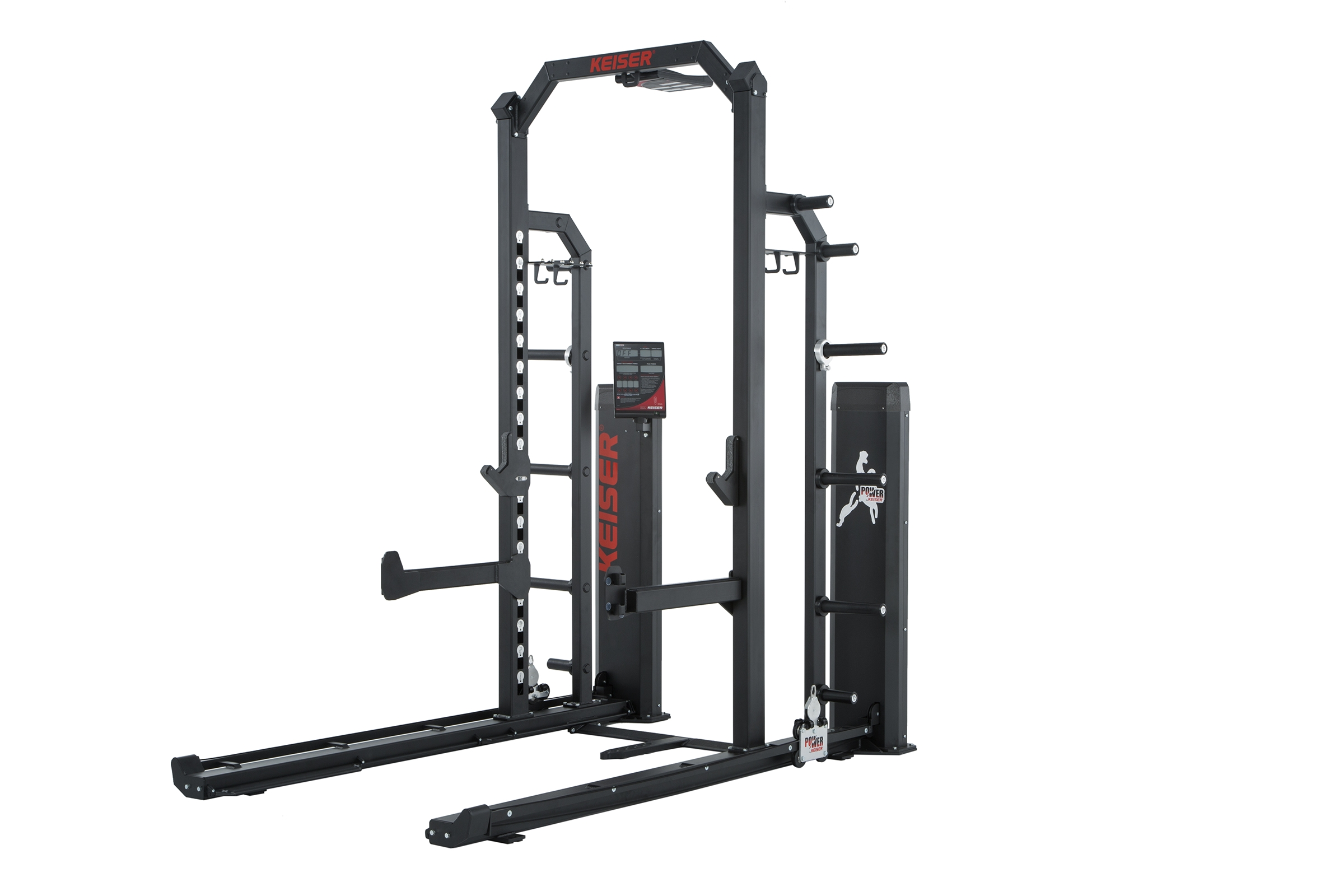 Rep Fitness A-1 Squat Rack with Pull Up Bar Half Rack Keiser