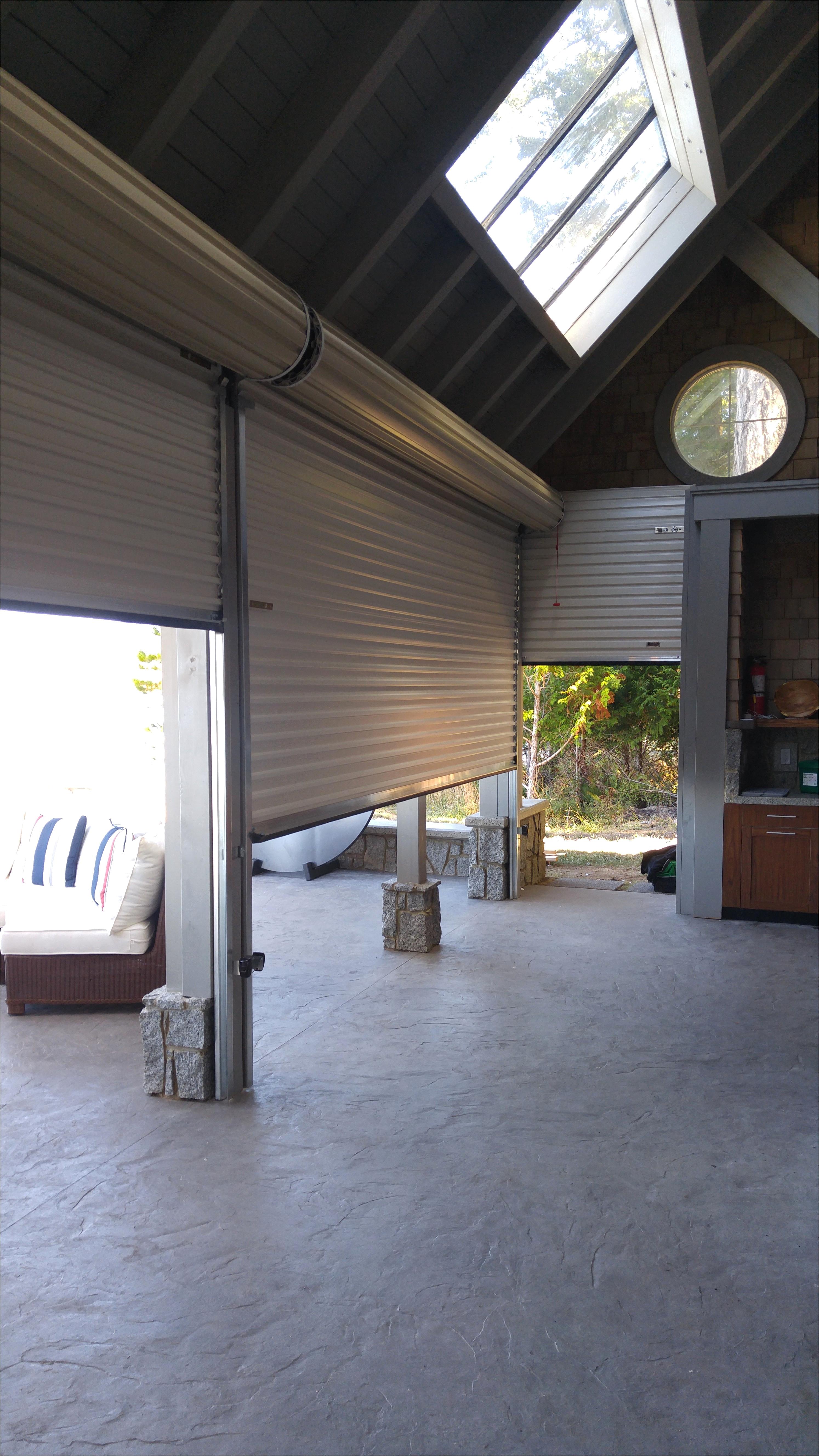 black roll up door residential garage door s from residential interior