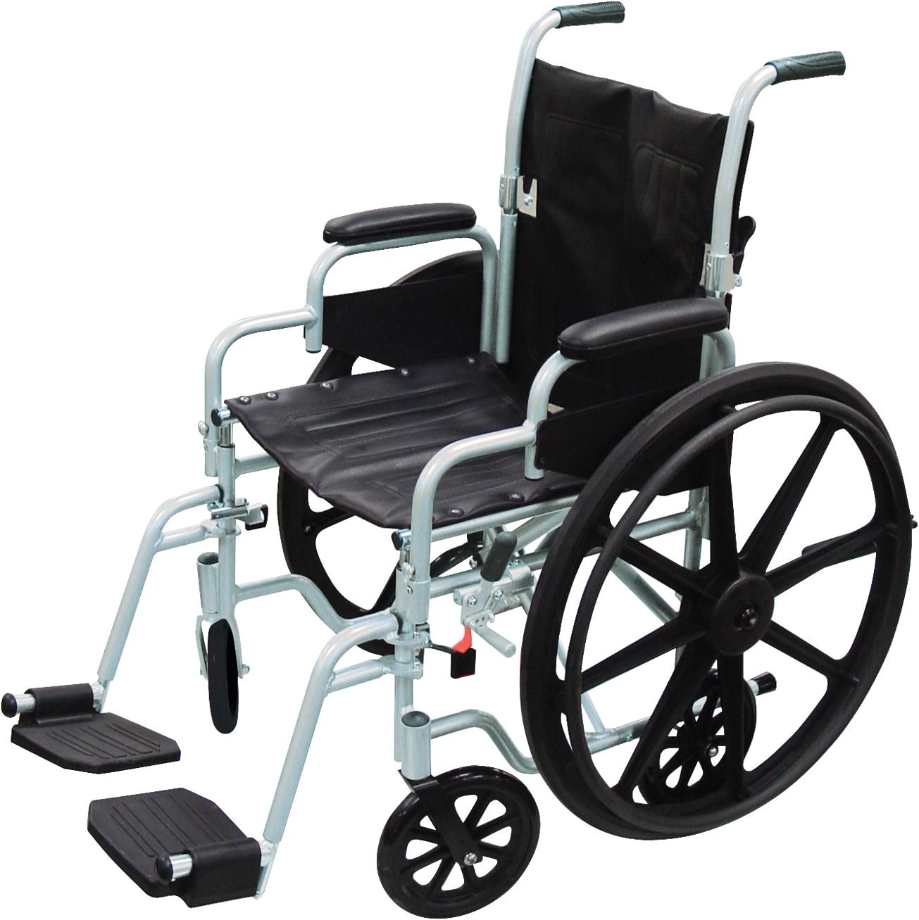 Rollator Transport Chair Combo Poly Fly High Strength Lightweight Wheelchair Flyweight Transport