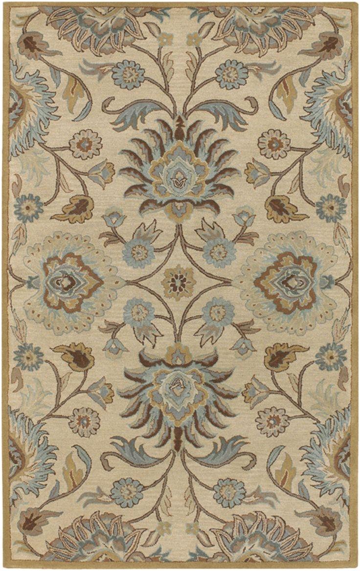 surya caesar beige light blue area rug reviews wayfair