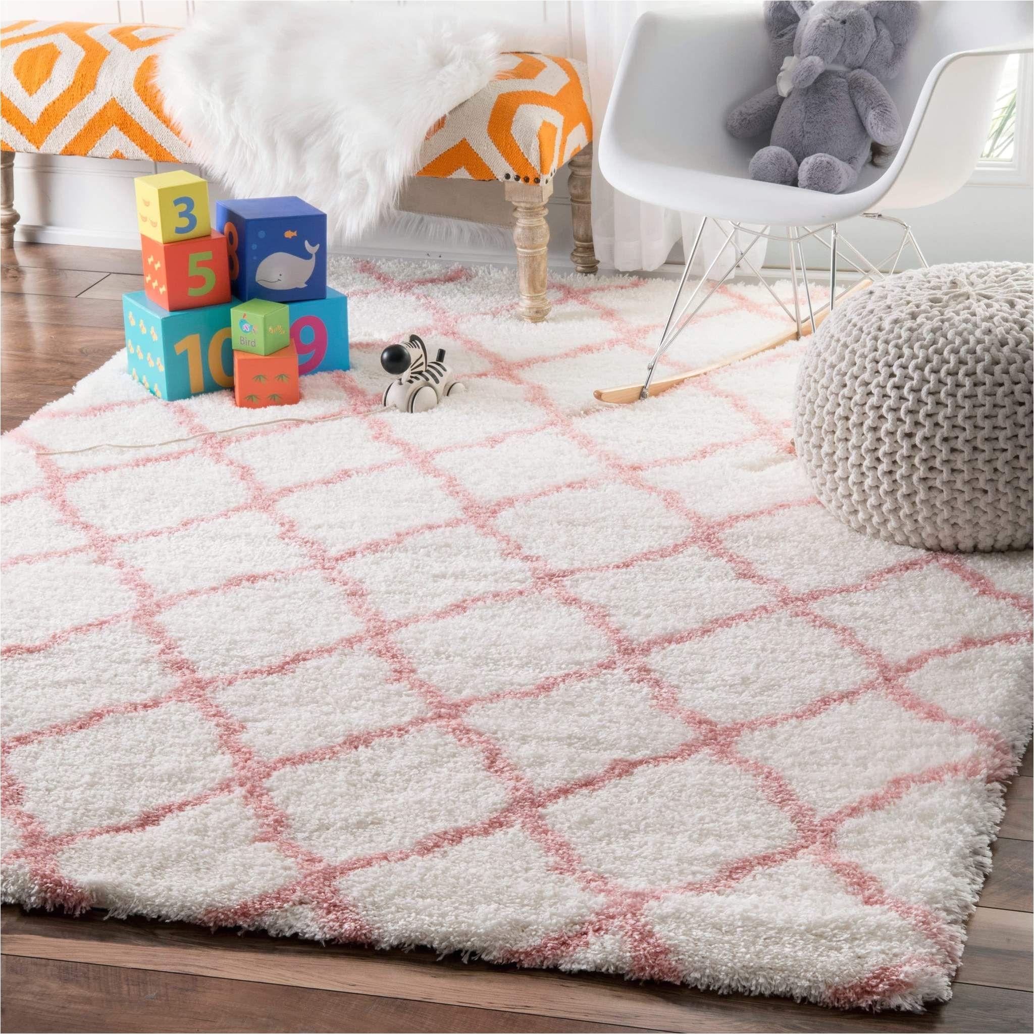 pink boho trellis white shag indoor rug