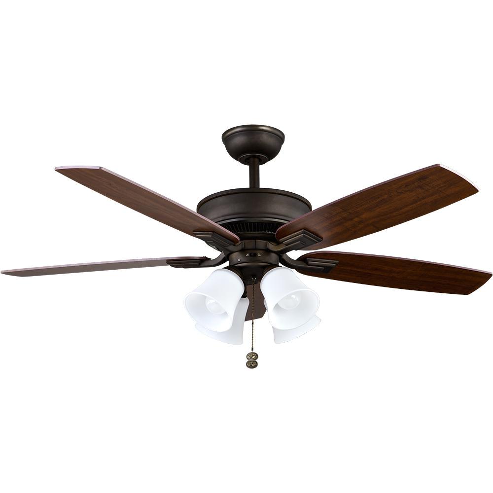 Rubbed Bronze Floor Fan Hampton Bay Devron 52 In Led Indoor Oil Rubbed Bronze Ceiling Fan