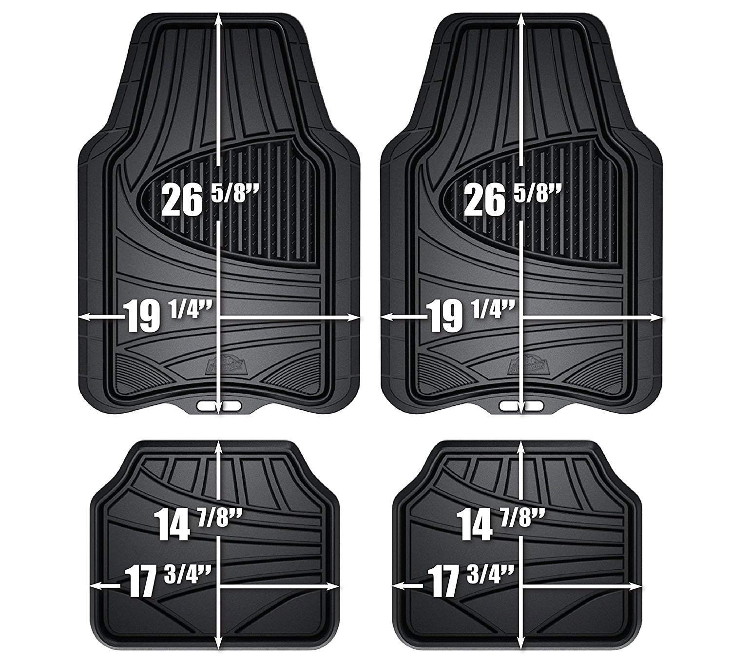amazon com custom accessories armor all 78840zn 4 piece black all season rubber floor mat automotive