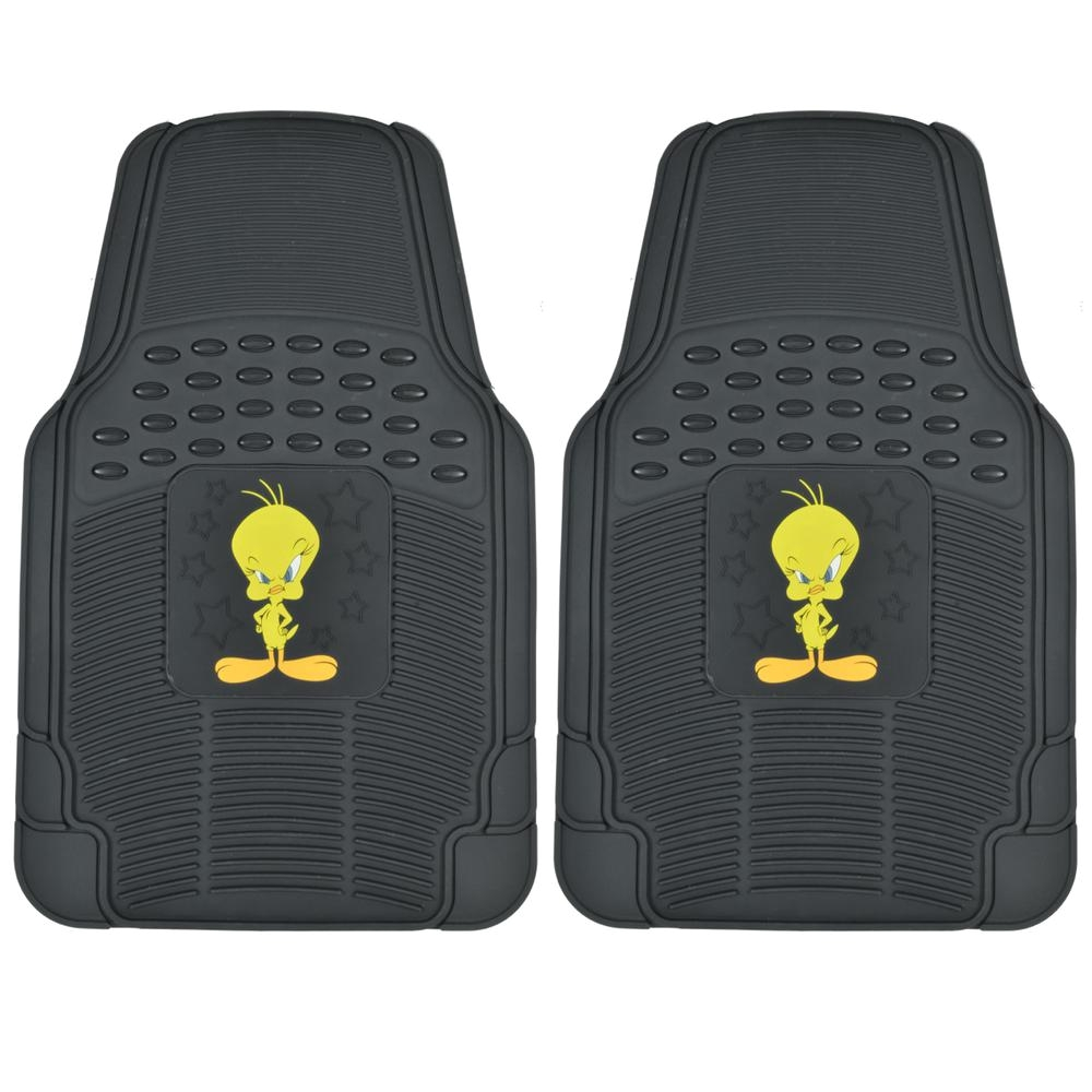 looney tunes wbmt 1172 tweety bird 2 pieces rubber car floor mats