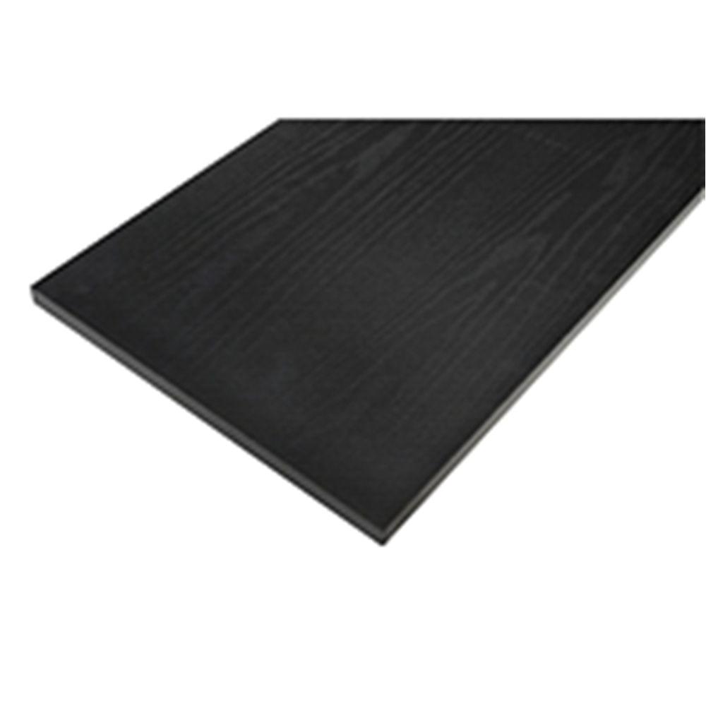 rubbermaid 8 in x 36 in black laminated wood shelf