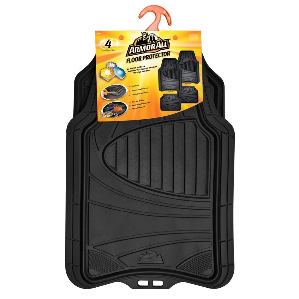 black heavy duty rubber 19 in x 29 in car mat 4
