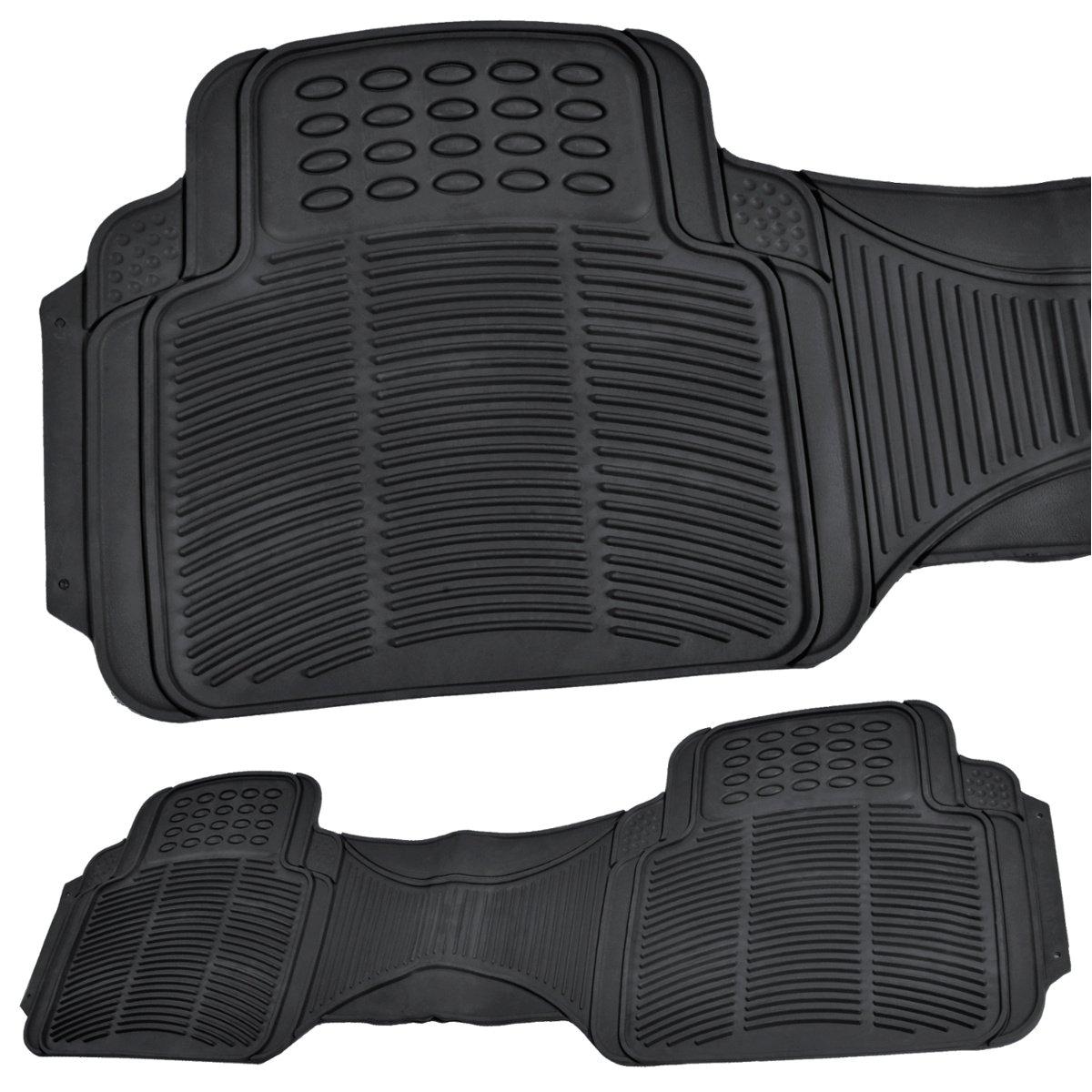 amazon com bdk car suv and van floor rubber mats 3 rows 4