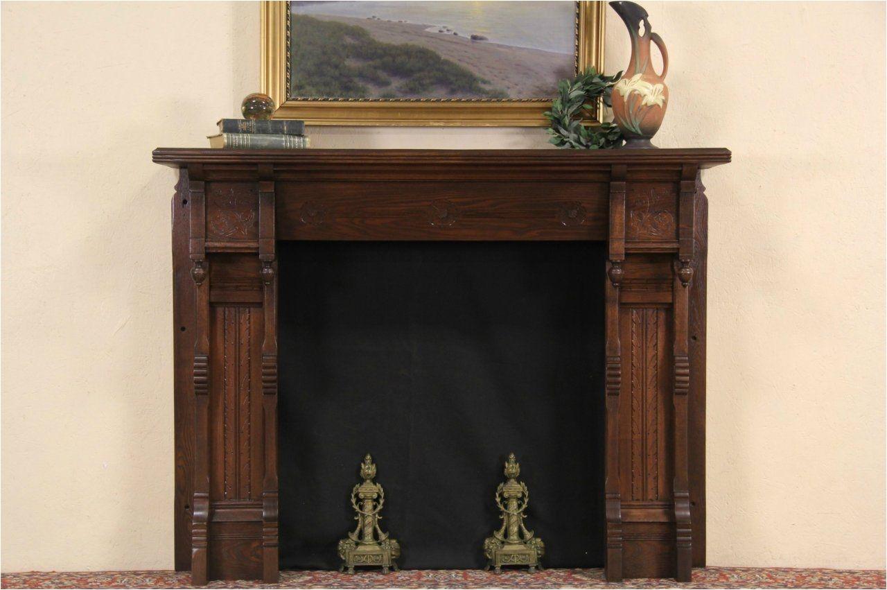 victorian eastlake oak 1880 antique salvage fireplace mantel surround ebay