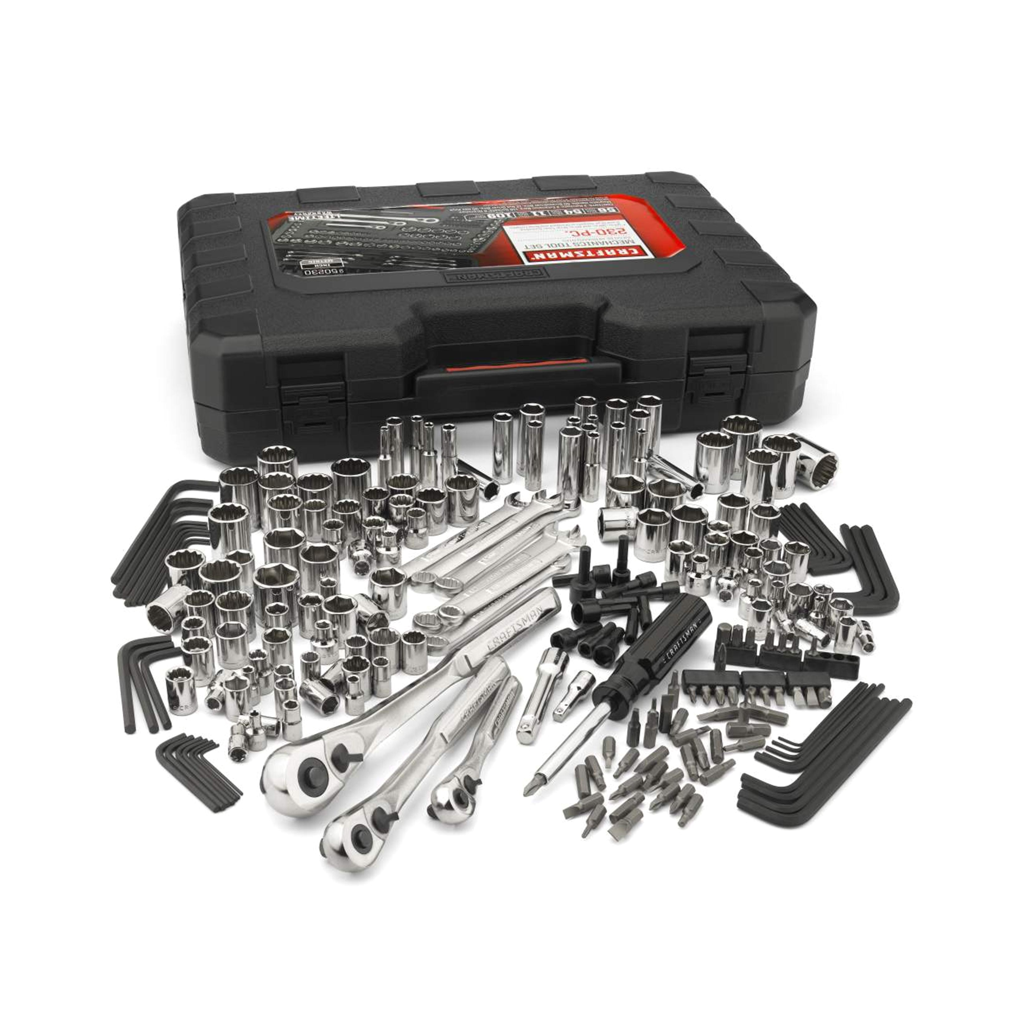 Sears Craftsman socket Rack Craftsman 50230 230 Piece Inch and Metric Mechanic S tool Set