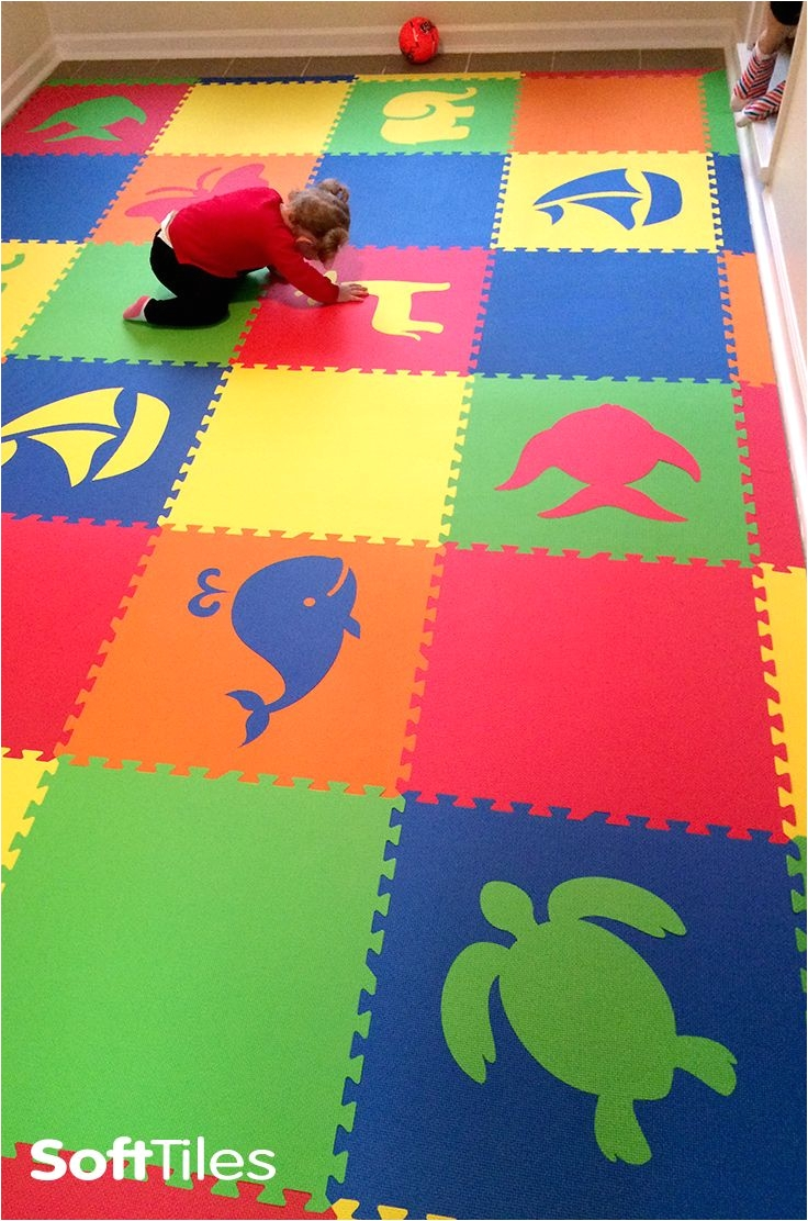 create beautiful kids playroom floors using softtiles die cut foam mats choose the colors and shapes to create your one of a kind playmat for your child s