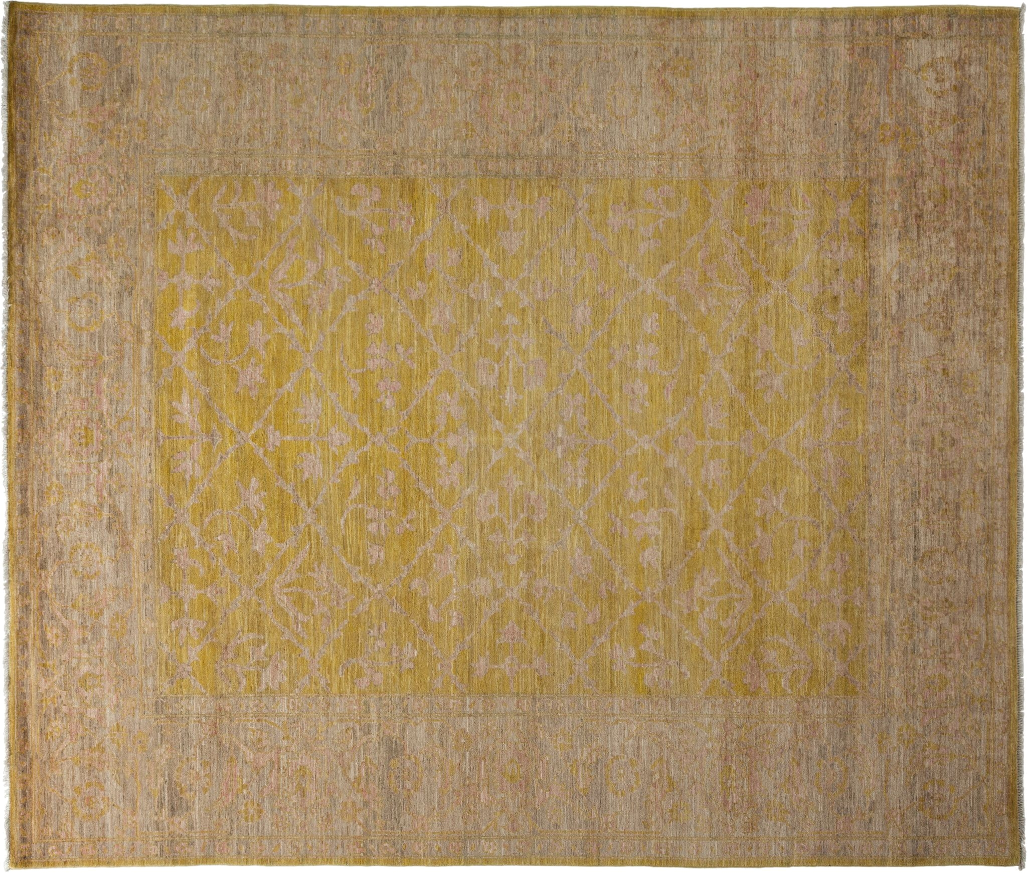 oushak oriental rug 8 x 10 yellow wool area rugs 8 4