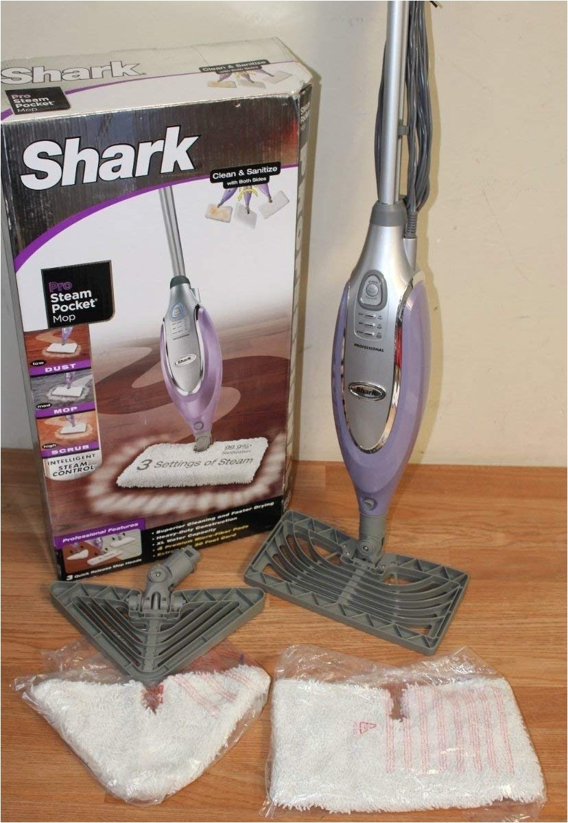 amazon com shark professional steam pocket mop 3 quick release mop heads household steam mops
