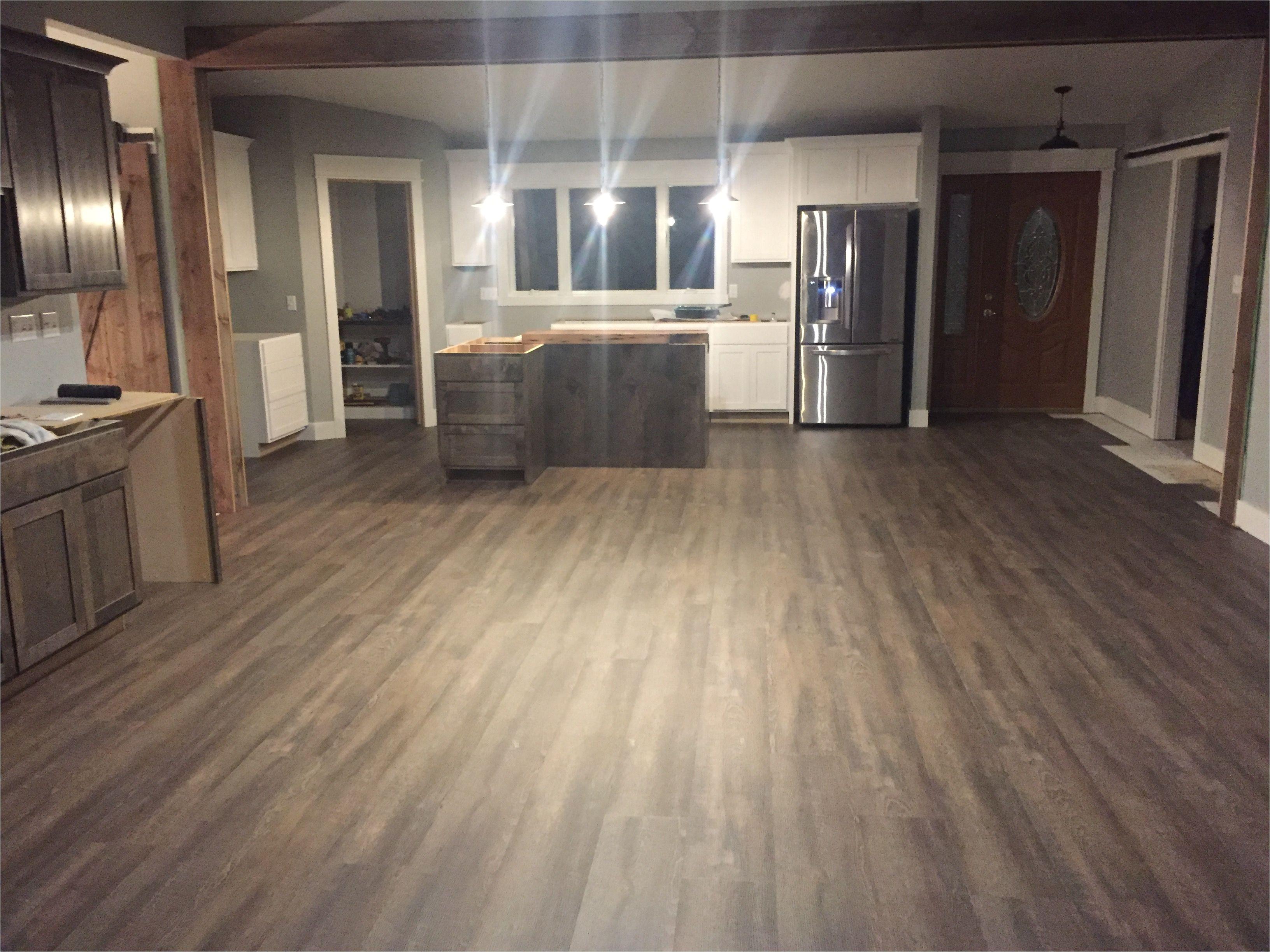 coretec plus xl 7 plank lvf luxury vinyl floor gray and brown tones rough sawn look planking