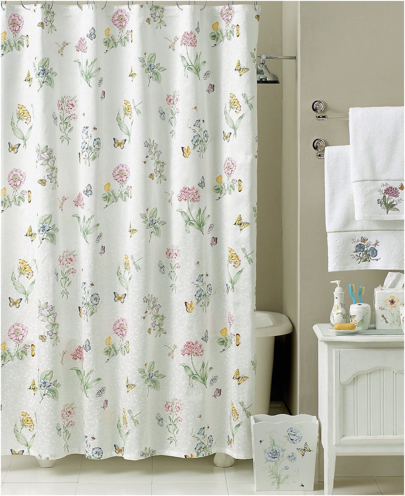 Shower Curtains at Kohls Home Design Shower Curtains at Kohls Awesome butterfly Meadow
