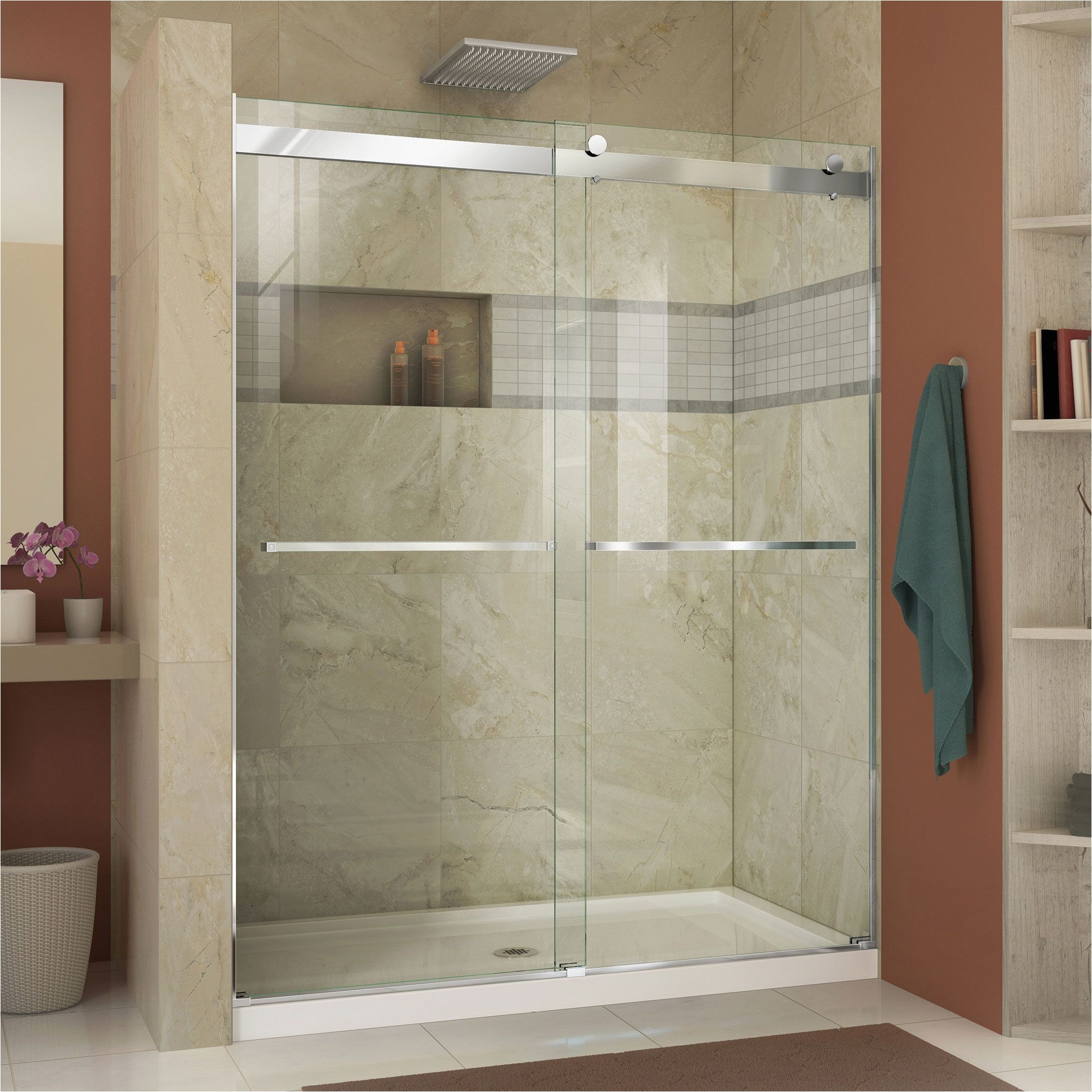 dreamline enigma x 56 to 60 inches fully frameless sliding shower door overstock com shopping the best deals on shower doors house pinterest