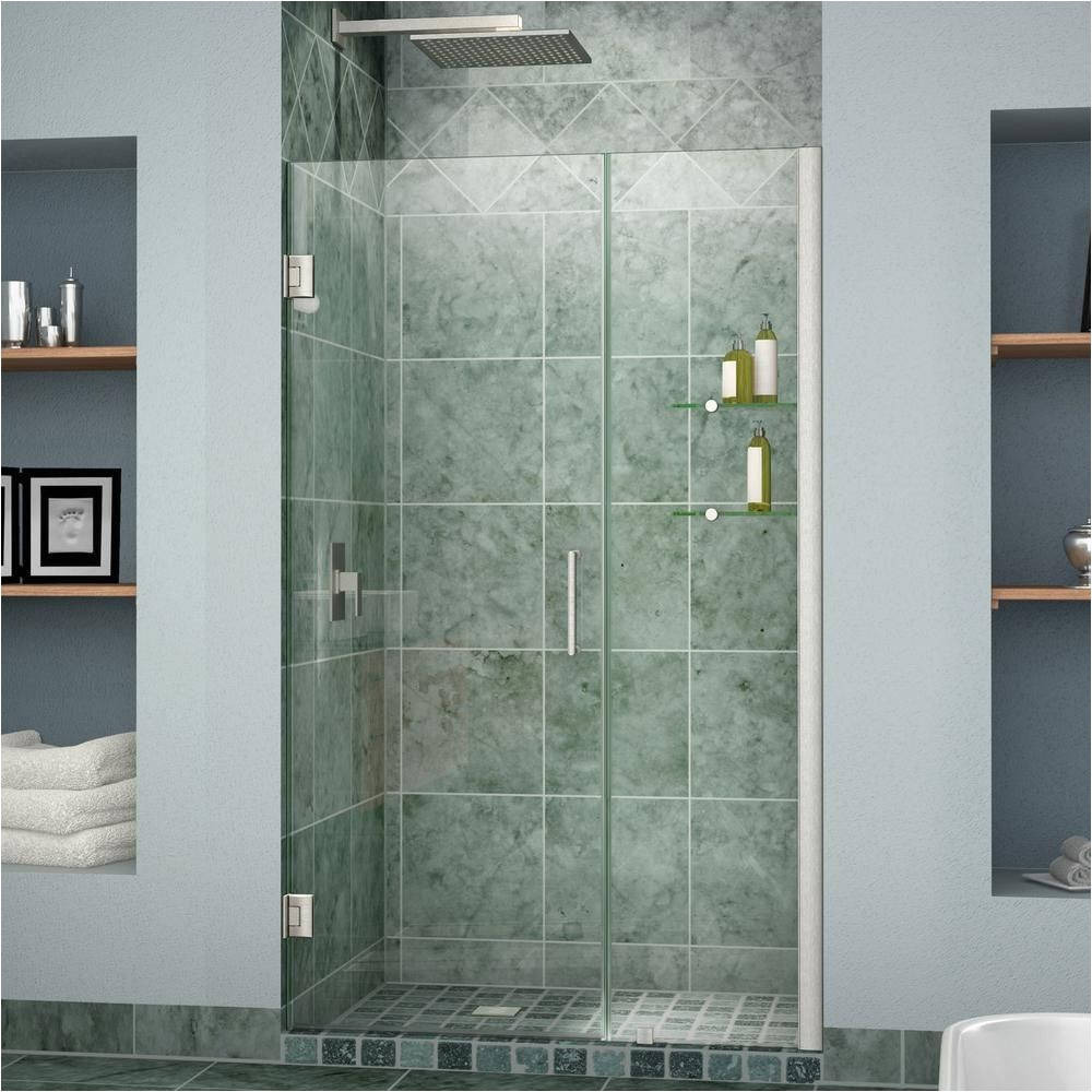 Shower Doors Of Austin Dreamline Unidoor 36 to 37 In X 72 In Frameless Hinged Pivot