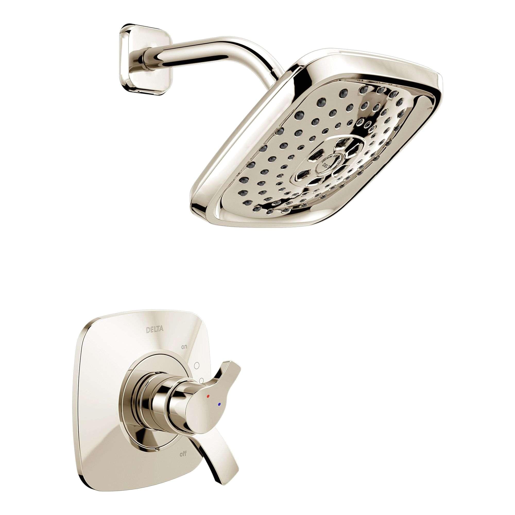 shower head shut off valve new delta t chrome tesla pressure balanced shower trim with