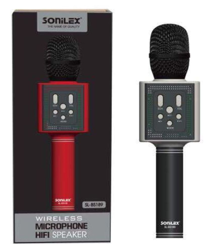 Shower Karaoke Machine sonilex Bs 189 Wireless Karaoke Microphone Cum Bt Speaker Buy