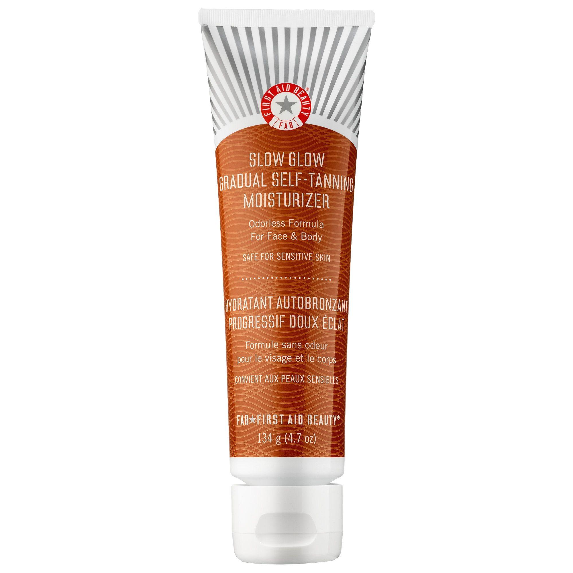shop first aid beauty s slow glow gradual self tanning moisturizer at sephora the nourishing