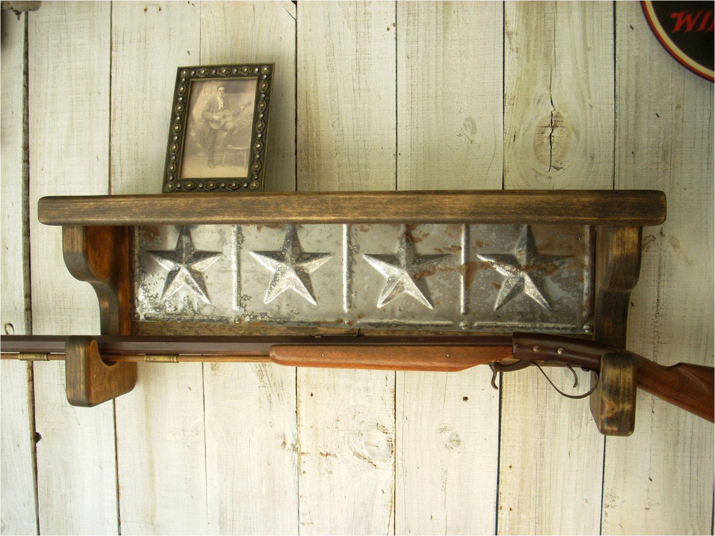 gun rack wall shelf western furniture by nottooshabbyshelves 85 00