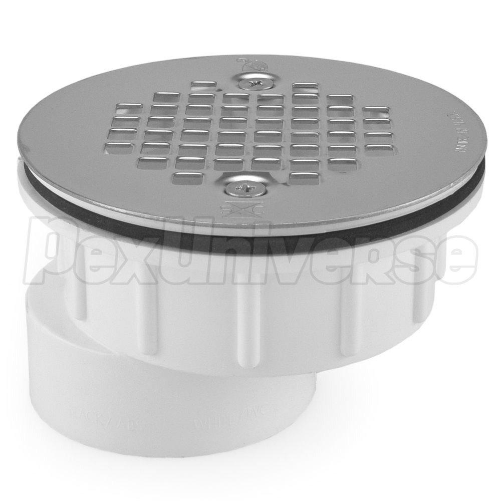 sioux chief 825 2pfs 3 4 offset pvc shower module drain 2 hub solvent weld pexuniverse