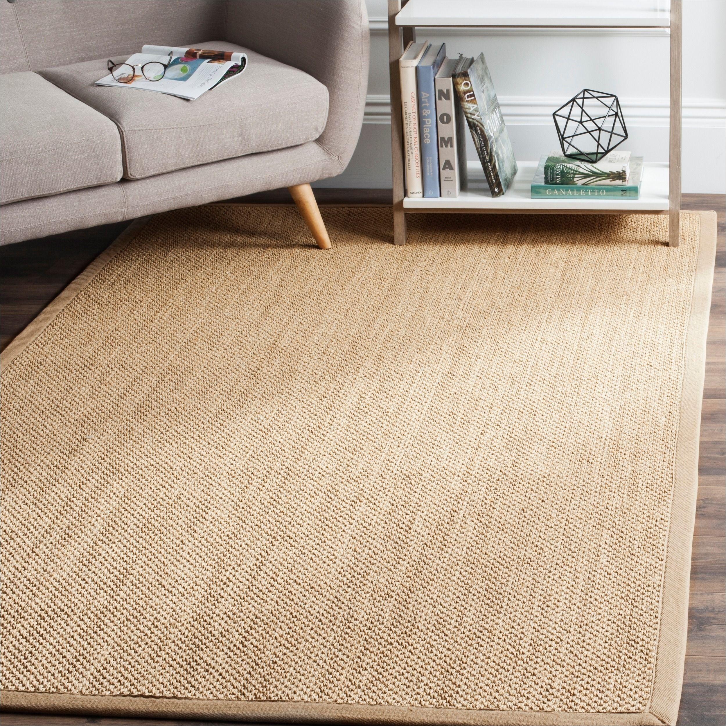 safavieh casual natural fiber handmade maize linen sisal rug 6 x 6 square nf141b 6sq beige size 6 x 6