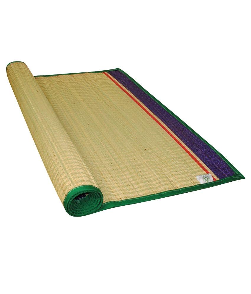 bismi mats beige plain korai grass floor mat