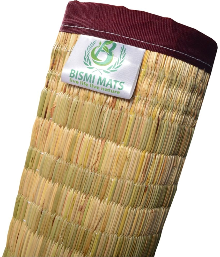 bismi mats multicolor kora grass sleeping mats 2 pcs