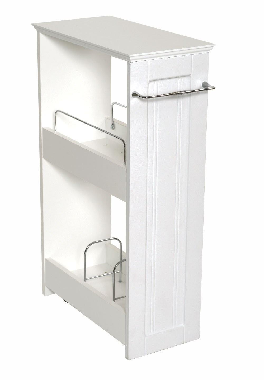 amazon com zenna home 9227wwbb slimline rolling storage shelf white home kitchen